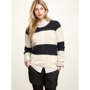GAP Cable-knit Stripe Sweater
